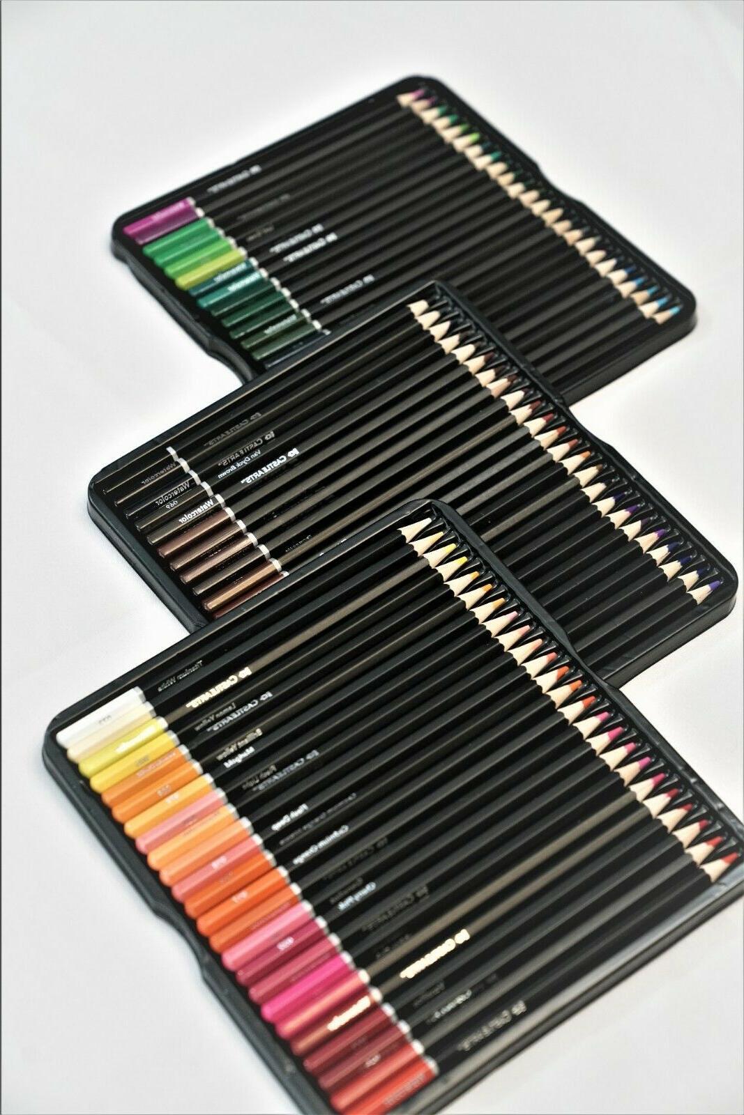 Set Of Professional Colored Premium Watercolor Pencils