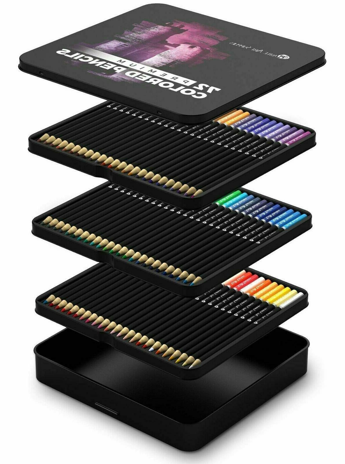 set of 72 professional colored pencils premium