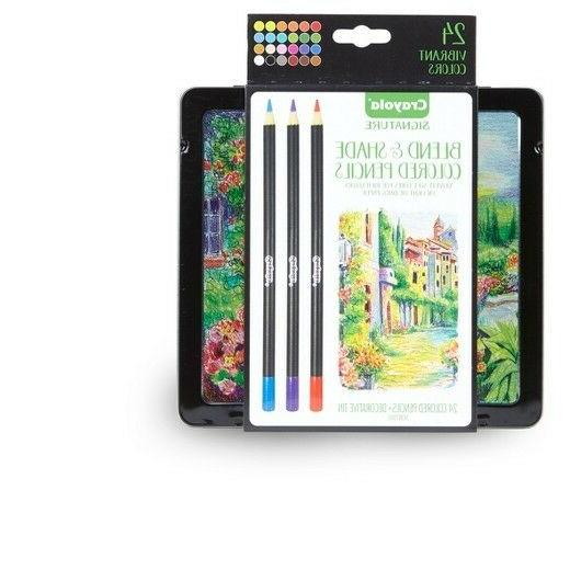 Crayola Signature Blend & Shade Colored Pencils 24 Colors Me