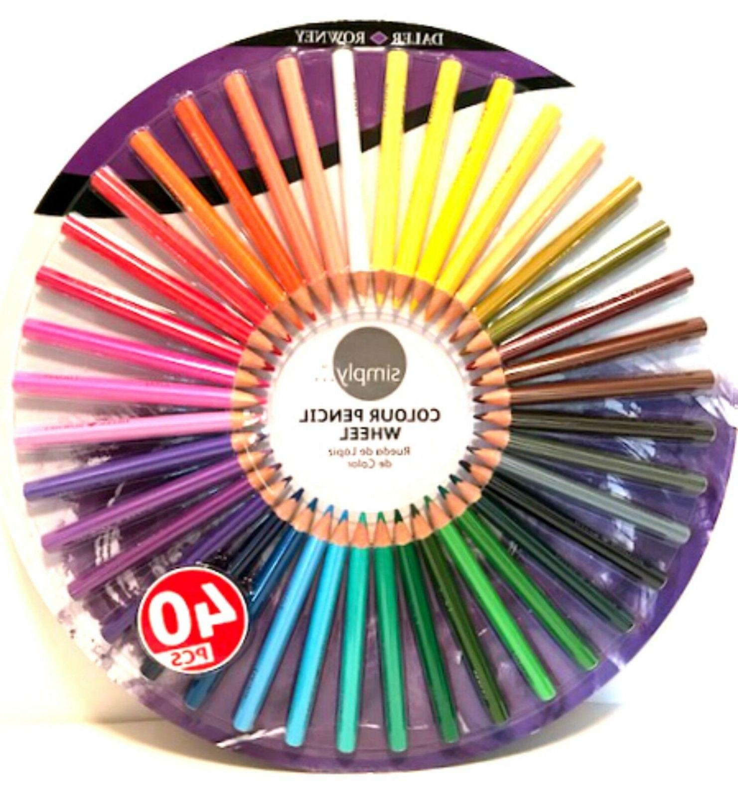 simply color colour pencil wheel 40 colored