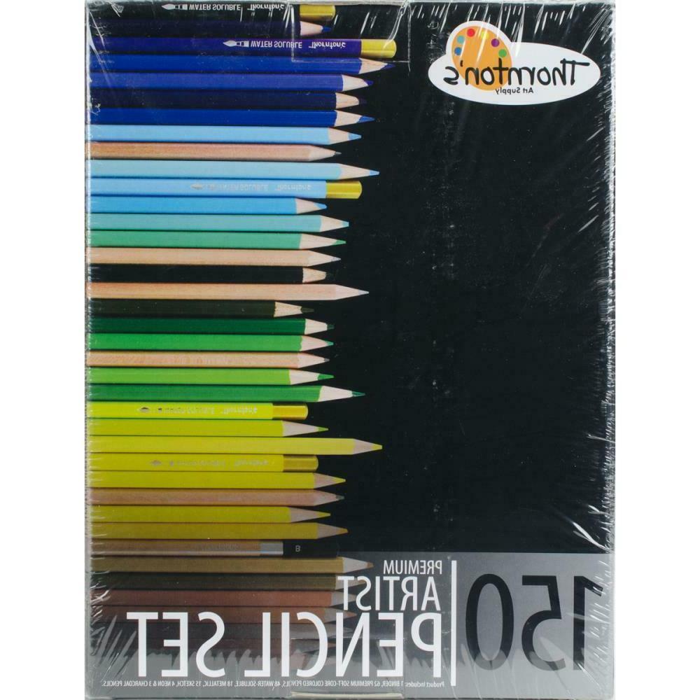 Thornton's Art Supply Soft Core 150 Piece Artist Grade Color