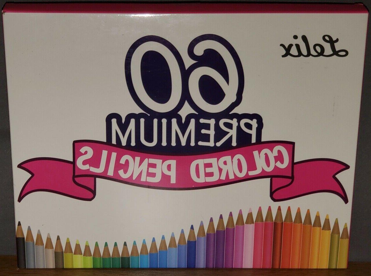 Lelix Premium Soft Core Colored Pencils 60 Unique Colors Per