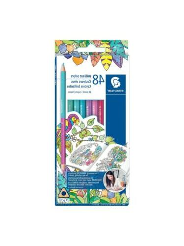 staedtler mars 1272c24blu johanna basford duo colored pencil