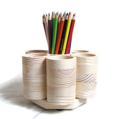 studio rotating colored pencil holder organizer holds