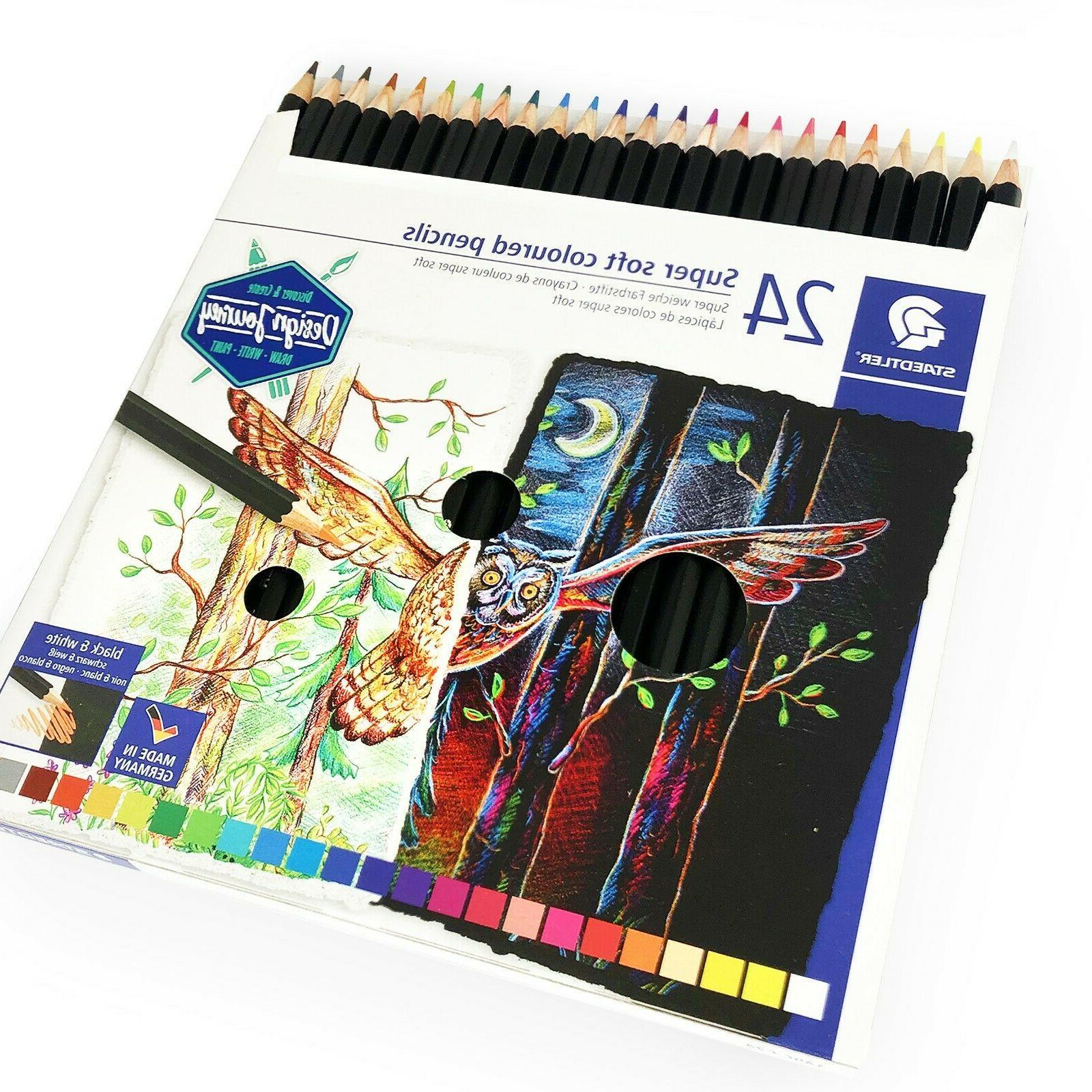 super soft coloured colouring pencils design journey