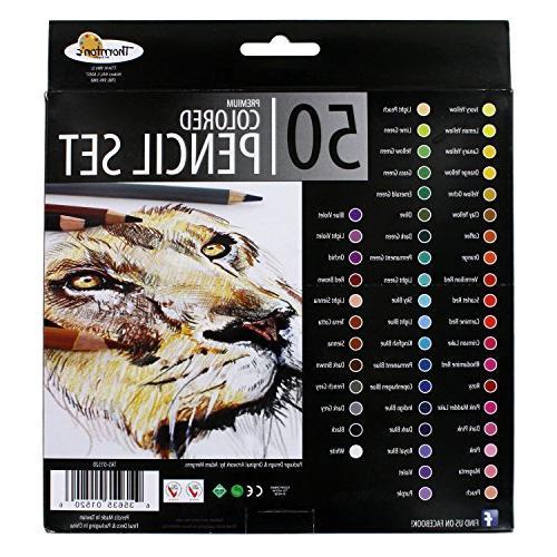 Thornton's Art Premium Soft Core Colored Coloring 50