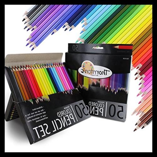 Premium Super Soft Core Colored Coloring Drawing Set, Assorted, 50