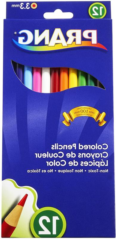 Prang Thick Core Colored Pencils, 3.3 Millimeter Cores, 7 In