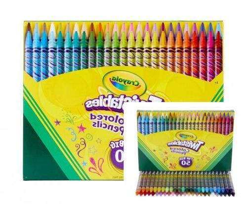 twistables colored pencils 50count gift toy