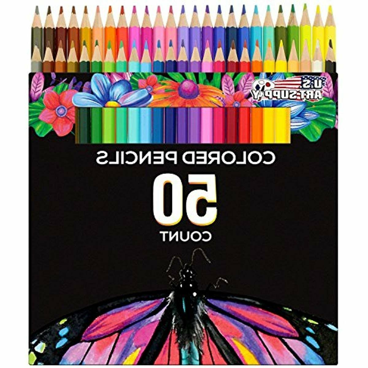 us art supply 50 piece adult coloring