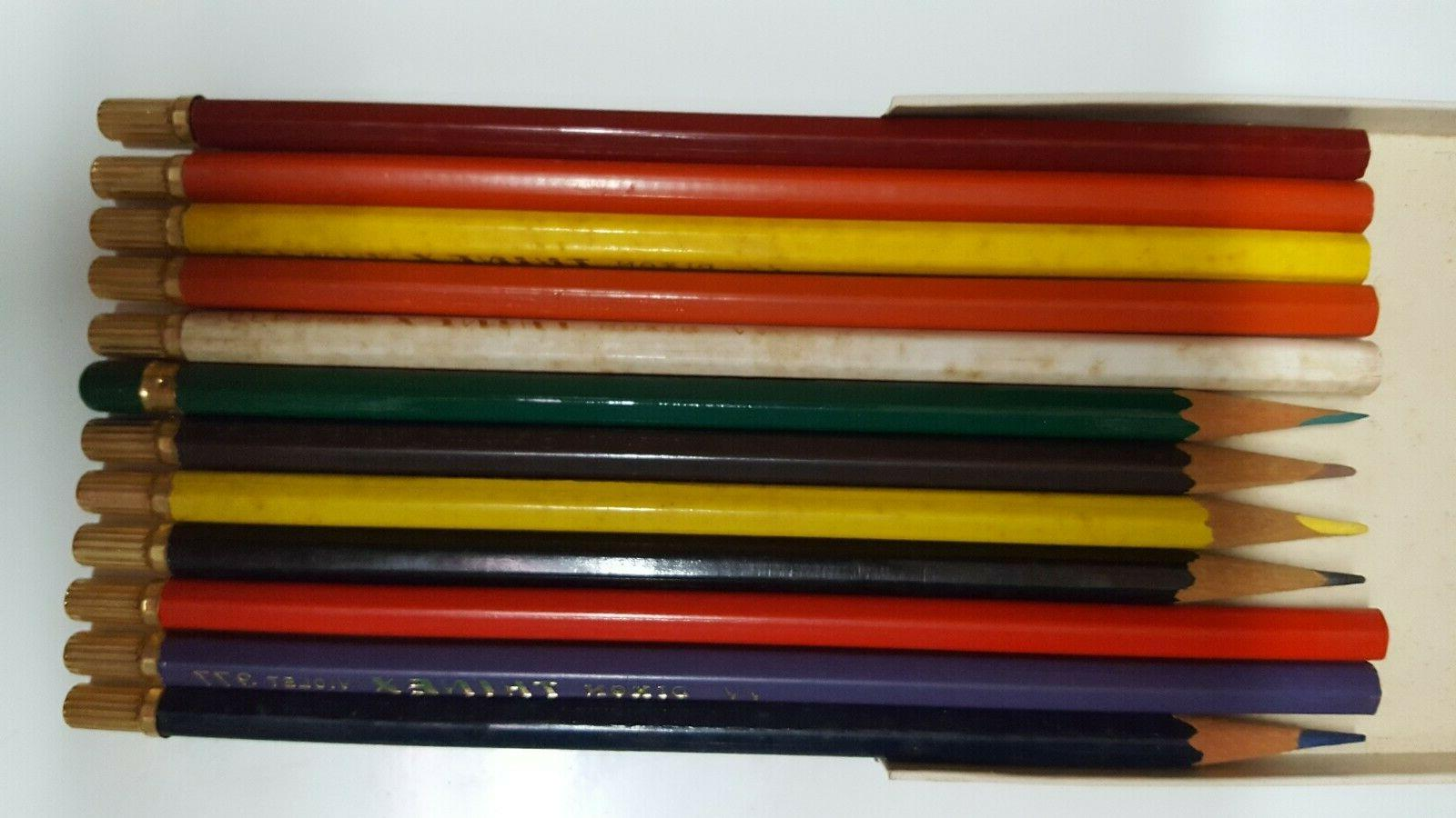 Vintage Dixon Thinex Color Pencils 12