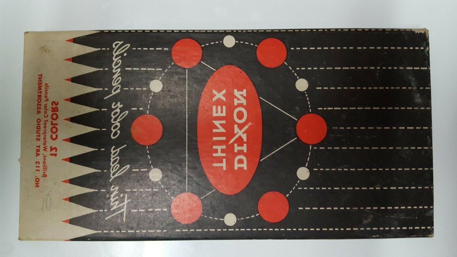 vintage thinex color pencils box of 12