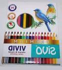 SiVO Vivid Premium Colored Pencils Box set 36 Colors 4mm Lea
