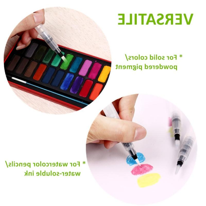 Ohuhu Coloring Pens Set of 6 Tips Soluble Solid Colors
