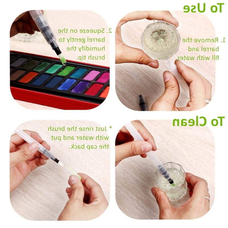 Ohuhu Coloring Brush Pens Tips Soluble Pencils Solid Colors