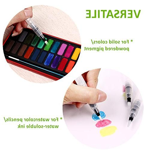 Ohuhu Set Watercolor Brushes Water Colored Water Markers, Powdered Back School Art Supplies