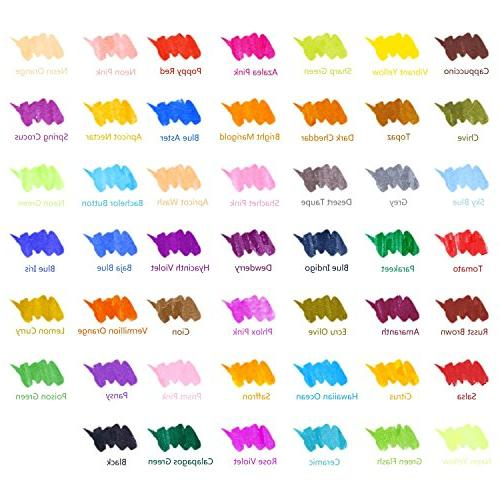 Watercolor Ohuhu 48 Based Brushes W/A Water Coloring Calligraphy, to Art Supplies