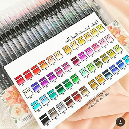 Watercolor Ohuhu 48 Based W/A Water Soluble for Coloring Books Manga Calligraphy, Back to School Art