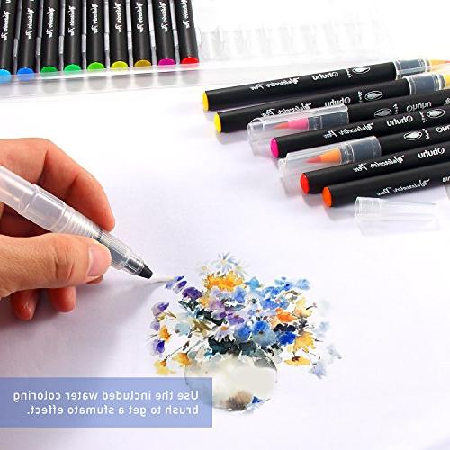 Watercolor Brush Based Drawing W/A Water Water Soluble Coloring Manga Calligraphy, Back Art