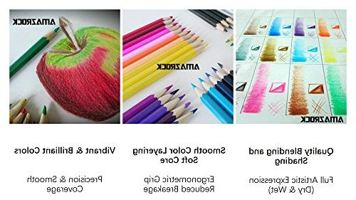 Amazrock Watercolor Set - 36 Colors Water Soluble Pencils CANVAS Roll Pencil Case