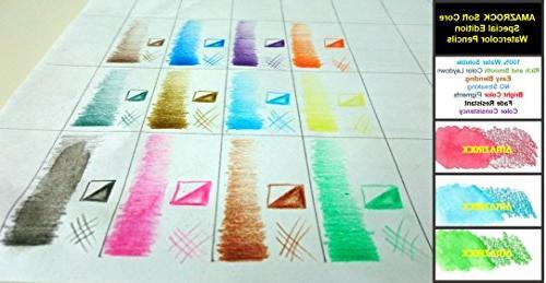 Amazrock Watercolor - Colors | Water Soluble Pencils Includes CANVAS