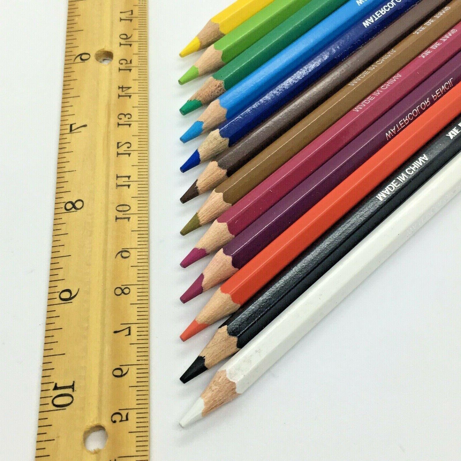 Watercolor Pencils Water Coloring Drawing Set