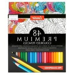 Leader Premium Colored Pencils, 48 Count