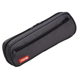 LIHIT LAB Pen Case, 9.4 x 1.8 x 3 inches, Black