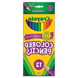 Crayola Long Barrel Colored Wood-case Pencils, Assorted Colo