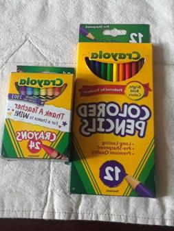 Crayola Long Colored Pencils - Pack of 12 +cryola crayons pa