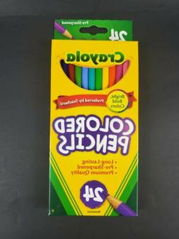 Crayola Long Colored Pencils - Pack of 24, FREE Shipping