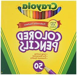 Crayola 50ct Long Colored Pencils  6 Pack