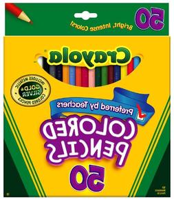 Crayola 50ct Long Colored Pencils Case of 12 packs