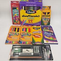 Lot 134 Crayola Rose Art Sanford Colored Pencils & Prismacol