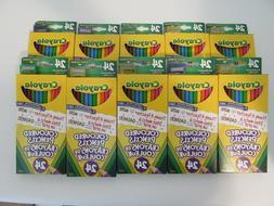 Lot of 10 - 24 Pack Crayola Colored Pencils with Bonus Penci
