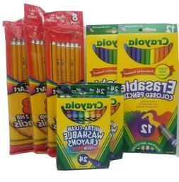 Lot of 7 Crayola Colored Pencils, Crayola Crayons, CraZArt N