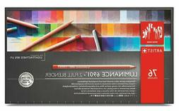 Caran d'Ache luminance colored pencil paper box 76 color set