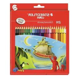Staedtler Luna 24 Colours Pencils Coloured Color Set