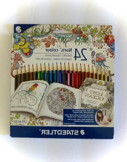 STAEDTLER Made In Germany 24 Colored Pencils Set- FREE SHIP