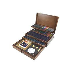 Derwent Majestic Commemorative Wooden Box, Pencils and Acces