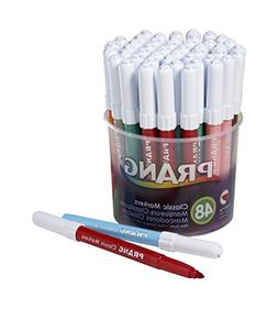 Art Markers, Non-Toxic, Bullet Pt, 48CT, Assorted, Sold as 1