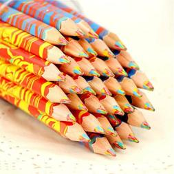 Mixed Colors Rainbow Pencil Art Drawing Colored Pencils Chil