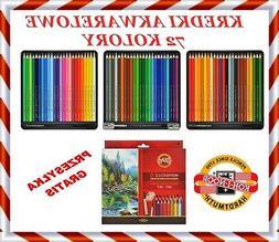 Mondeluz Aquarell Watercolor Pencils 72 colors 3714  KOH-I-N