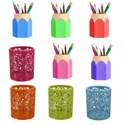 Multi-color plastic Pencil Holder Stationery Organizer Offic