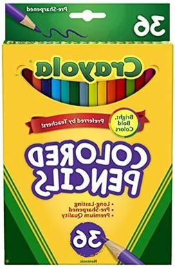 Multicolor, Colored Crayola Pencils, 36-Pack, Long, Features