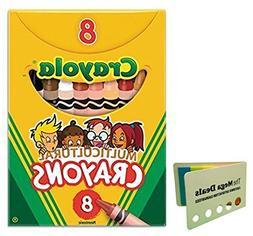 Crayola Multicultural Crayons -24 Count  Includes 5 Color Fl