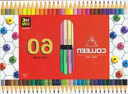 neon 30 pencil hexagonal double
