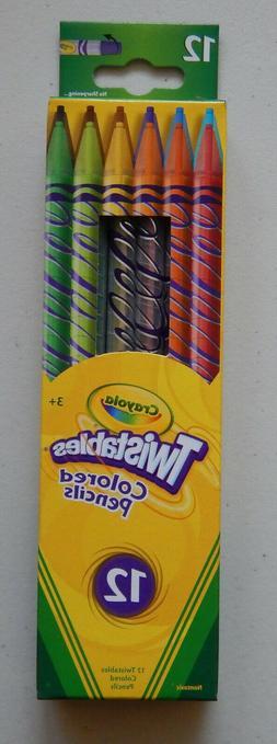 New 12 Count Crayola Twistables Colored Nontoxic Pencils