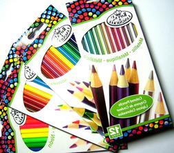 New 12pc Colored Pencil Sets Metallic, Watercolor, Neon & Ba