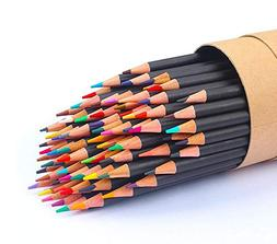 new 72 color colored pencils soft core